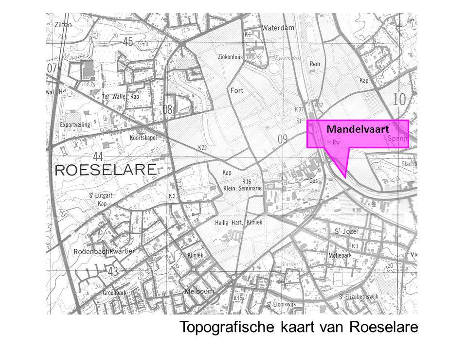 Topografische kaart van Roeselare Mandelvaart