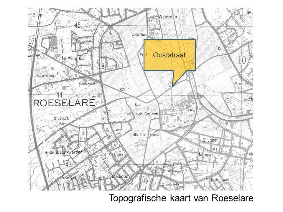 Topografische kaart van Roeselare Ooststraat