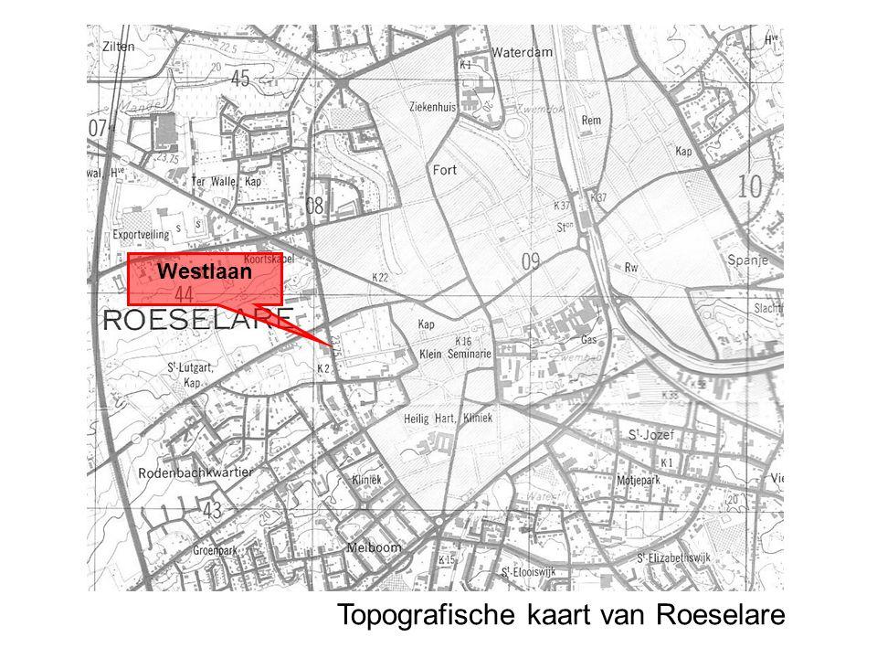 Topografische kaart van Roeselare Westlaan