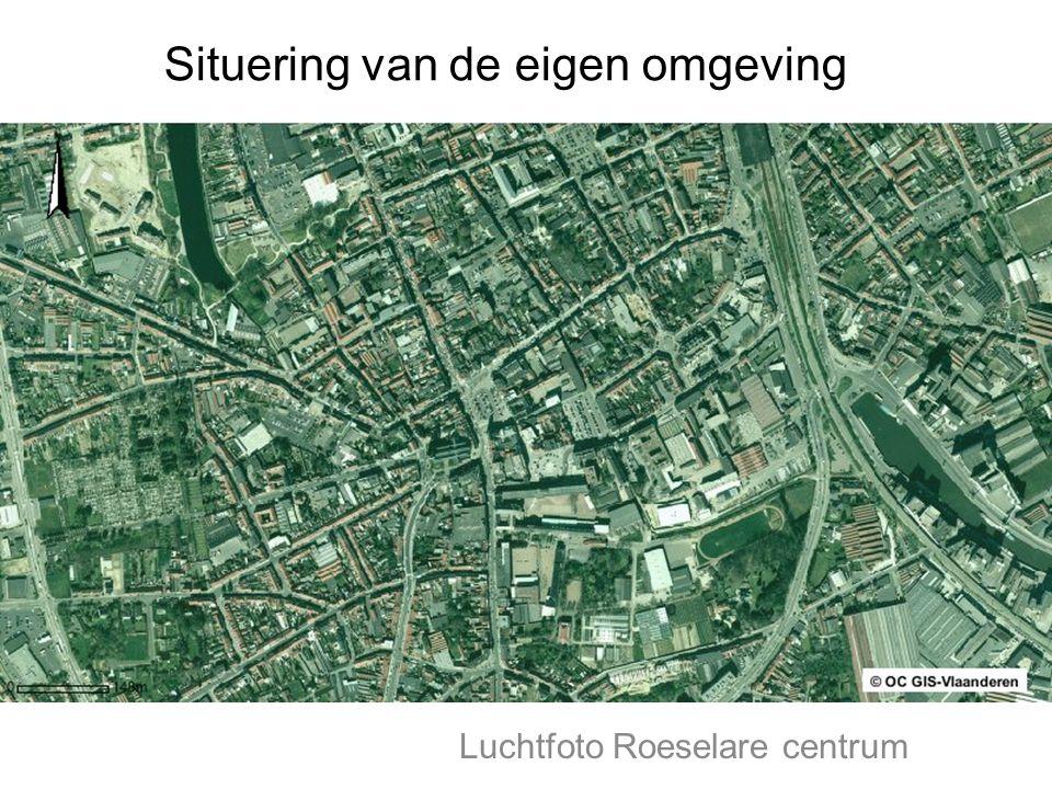Luchtfoto Roeselare centrum Situering van de eigen omgeving