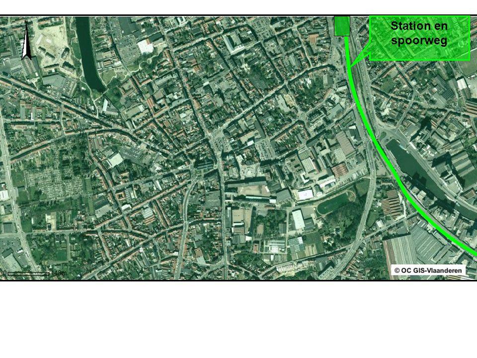 Station en spoorweg