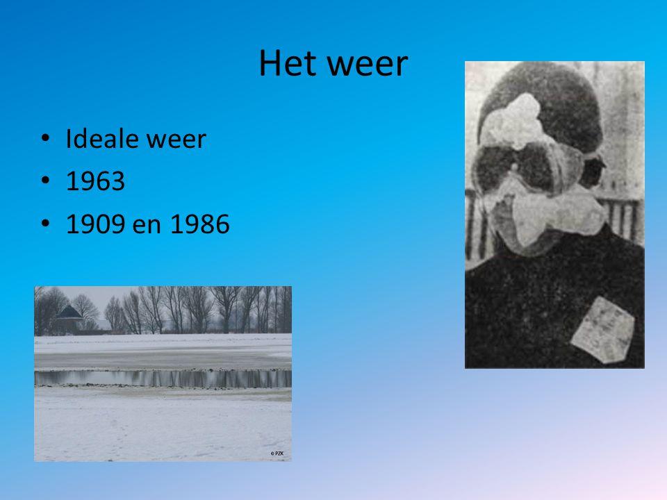 Het weer Ideale weer 1963 1909 en 1986