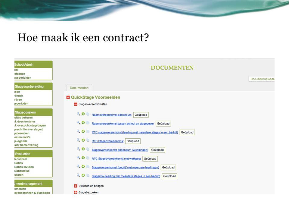 Hoe maak ik een contract?