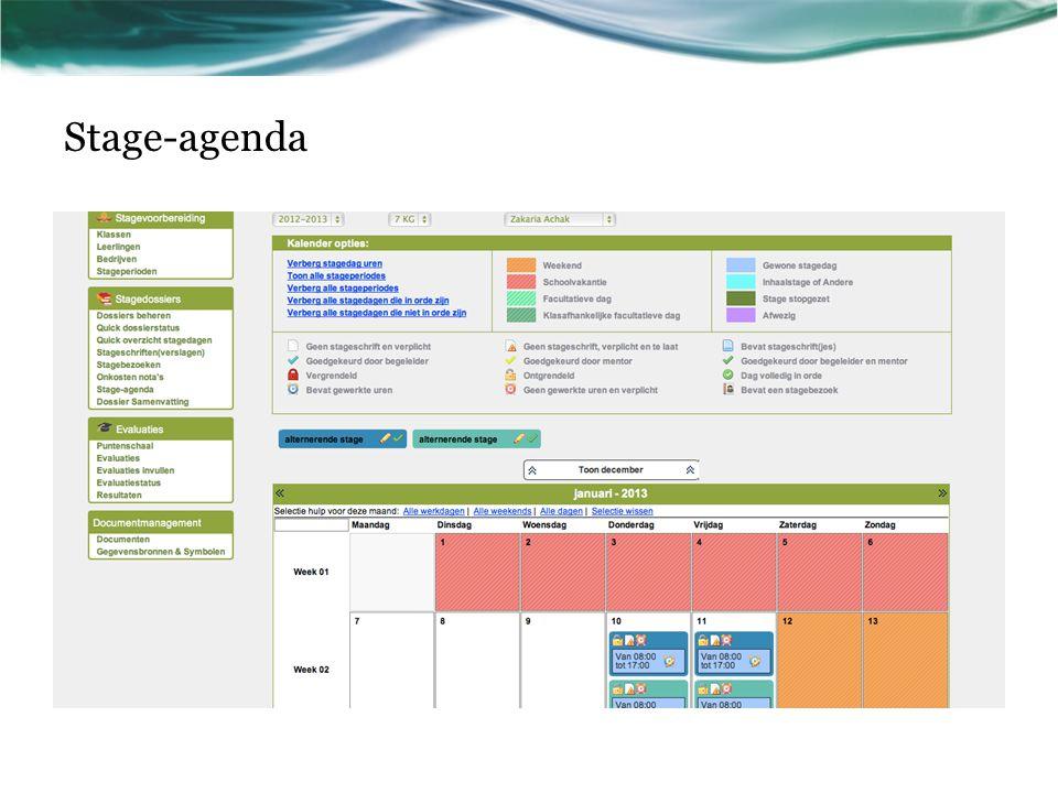 Stage-agenda