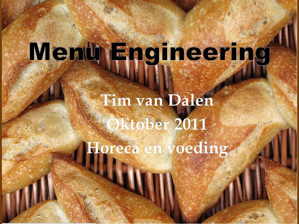 Tim van Dalen Oktober 2011 Horeca en voeding