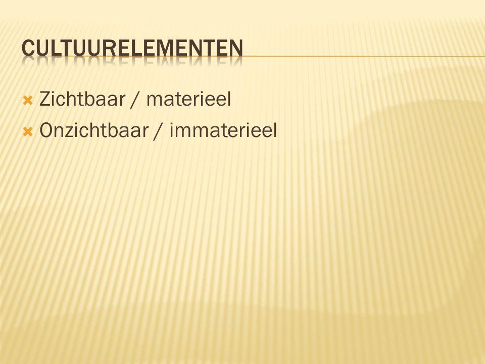  Zichtbaar / materieel  Onzichtbaar / immaterieel