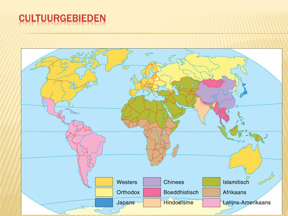  Godsdienst is een van de belangrijkste cultuurelementen  Betekenis neemt af in westerse landen, maar godsdienst speelt in grote delen van de wereld een dagelijkse rol