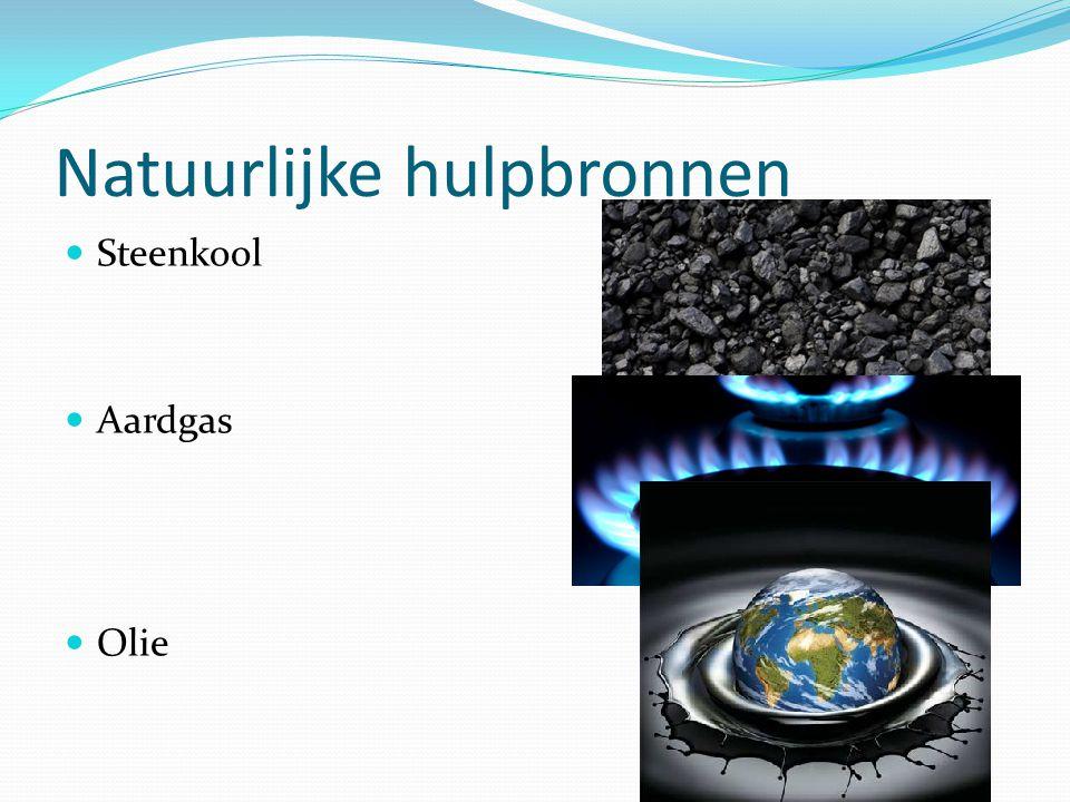 Natuurlijke hulpbronnen Steenkool Aardgas Olie