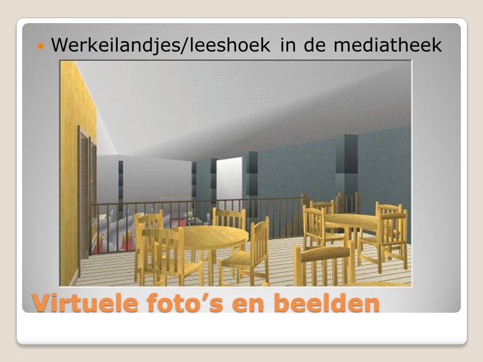 Virtuele foto's en beelden Werkeilandjes/leeshoek in de mediatheek
