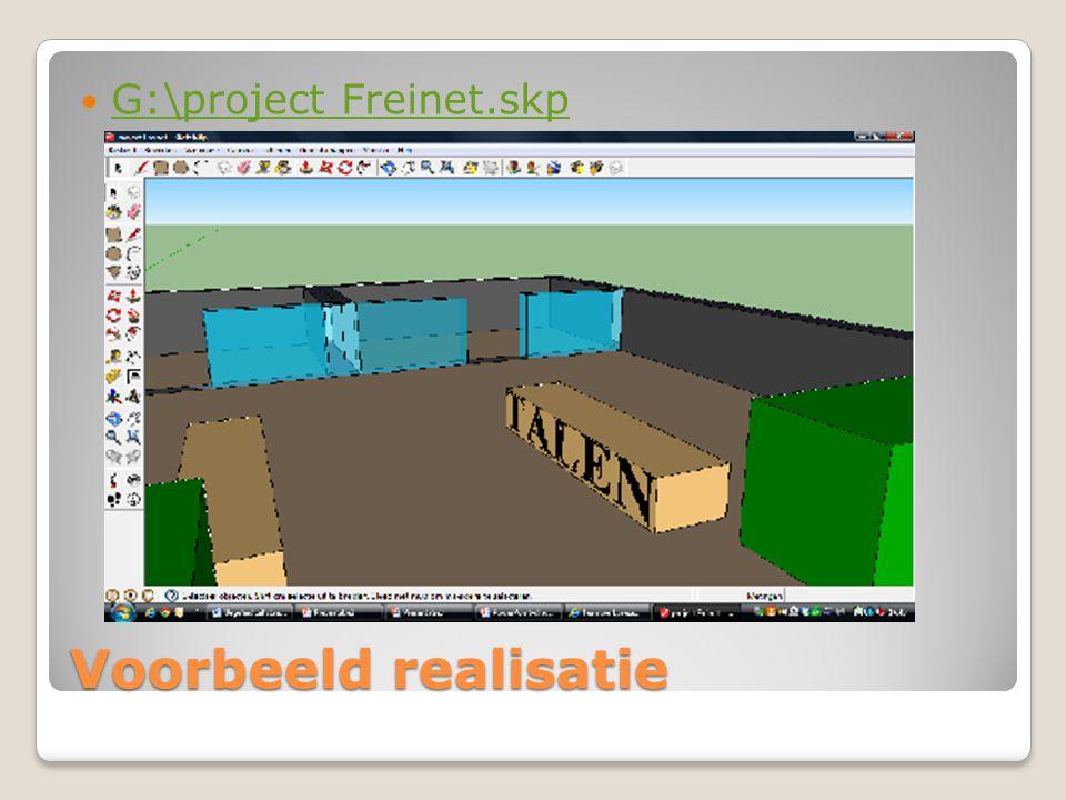 Voorbeeld realisatie G:\project Freinet.skp