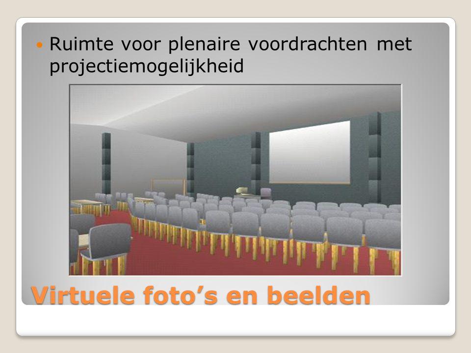 Virtuele foto's en beelden Ruimte voor plenaire voordrachten met projectiemogelijkheid