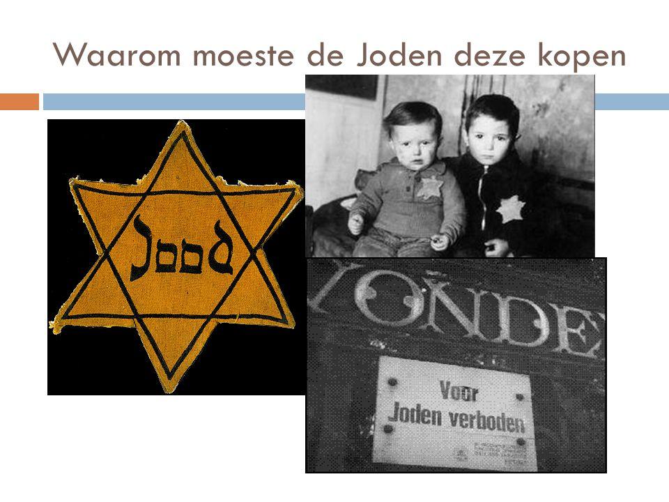 Waarom moeste de Joden deze kopen