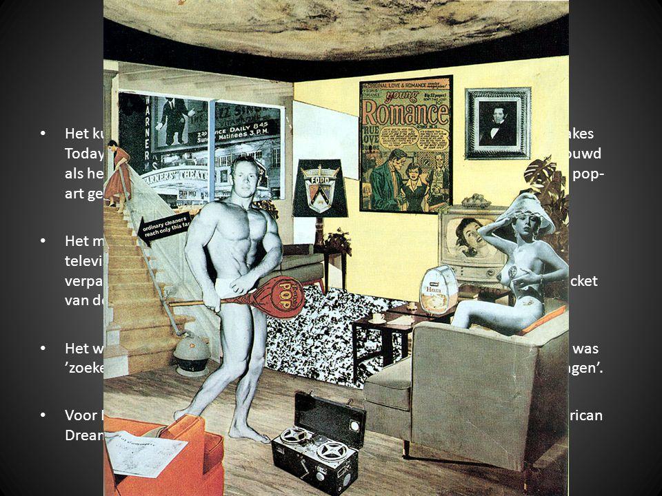Pop-Art Het kunstwerk van de Engelsman Richard Hamilton