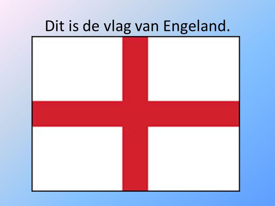 Dit is de vlag van Engeland.
