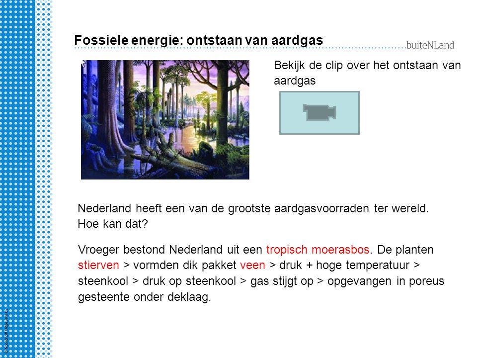 Fossiele energie: ontstaan van aardgas Nederland heeft een van de grootste aardgasvoorraden ter wereld. Hoe kan dat? Vroeger bestond Nederland uit een
