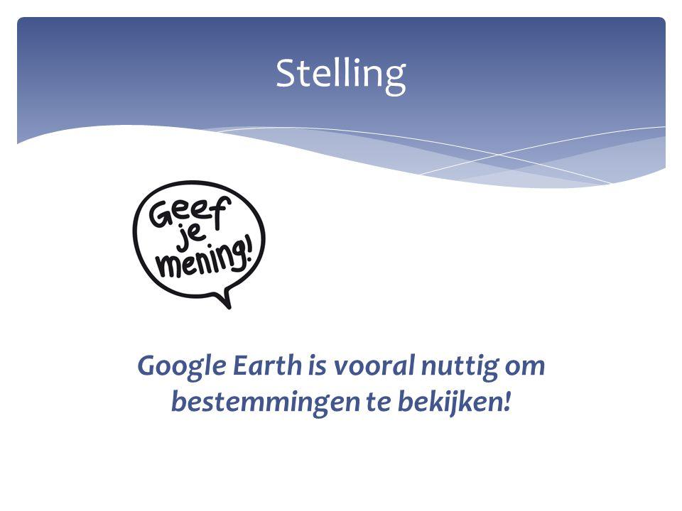 Vakgebied: Aardrijkskunde Hoofdvraag: Hoe kan het gebruik van Google Earth een positieve bijdrage leveren aan het geografisch besef bij kinderen.