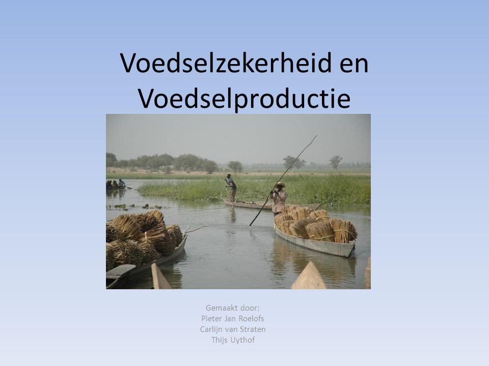 Voedselzekerheid en Voedselproductie Gemaakt door: Pieter Jan Roelofs Carlijn van Straten Thijs Uythof