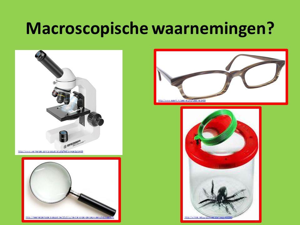 Macroscopische waarnemingen? http://www.vermandel.com/productlist.php?action=cat&cid=39 http://meemetdemode.blogspot.be/2010/11/textiel-onder-de-loep-