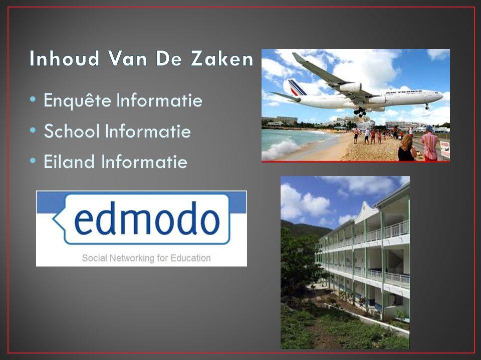 Enquête Informatie School Informatie Eiland Informatie
