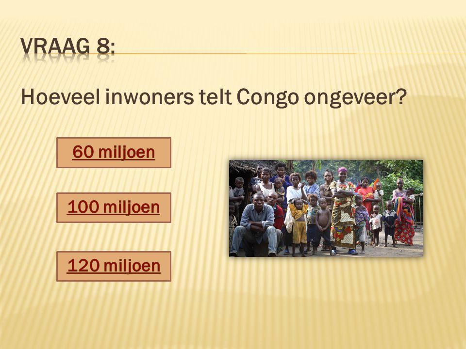 Hoeveel inwoners telt Congo ongeveer?