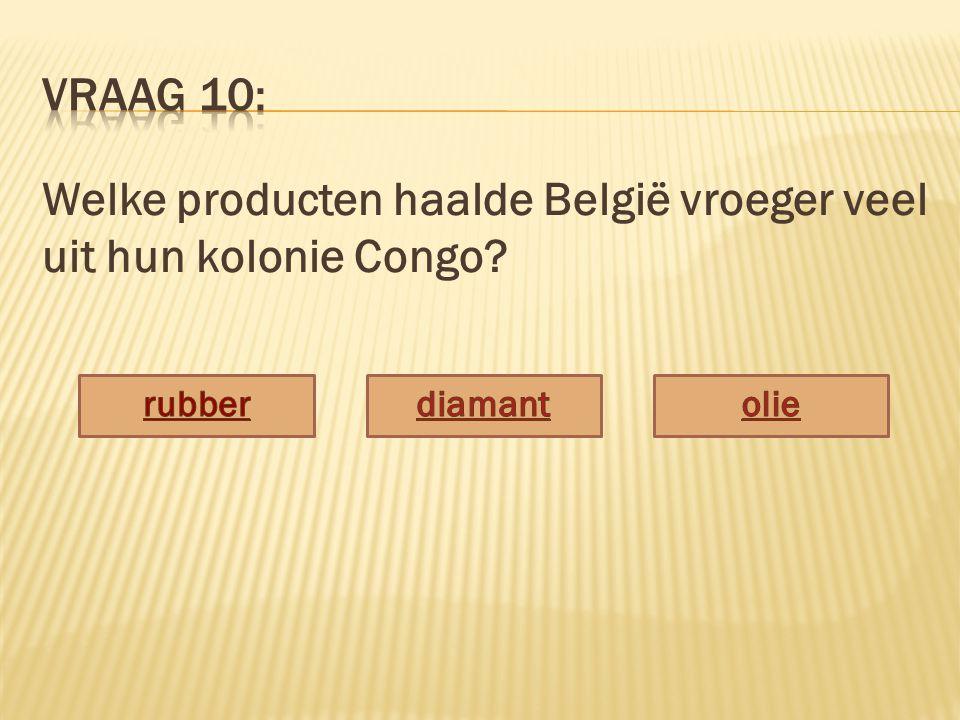 Welke producten haalde België vroeger veel uit hun kolonie Congo?