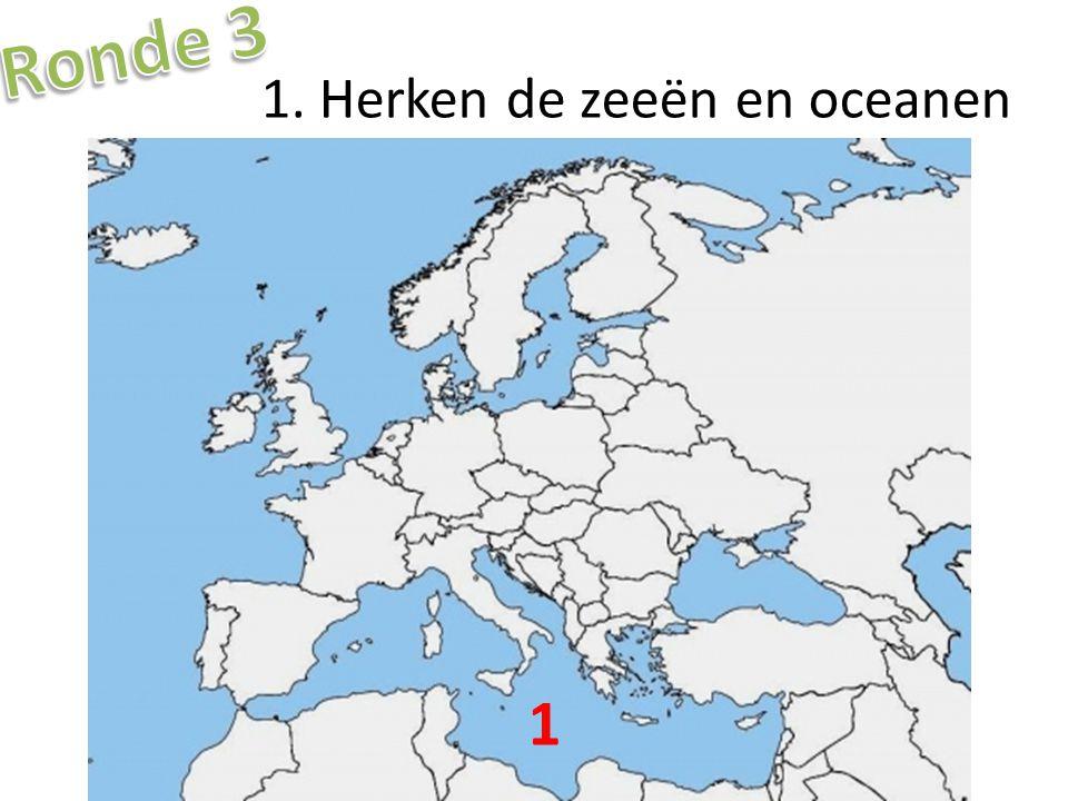 1. Herken de zeeën en oceanen 1