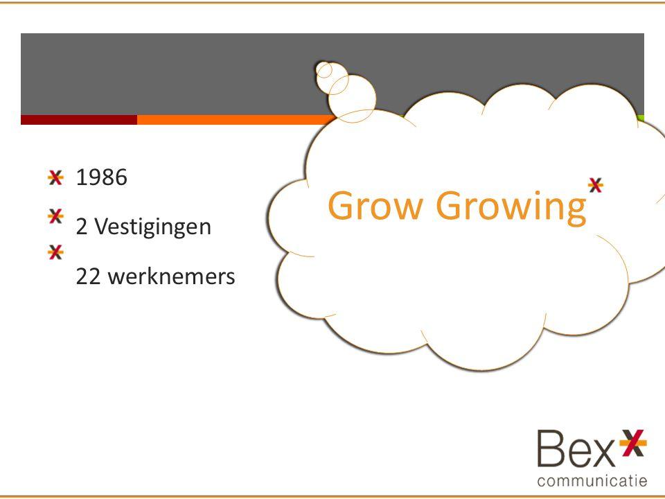 1986 2 Vestigingen 22 werknemers Grow Growing