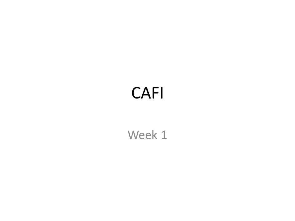 - Huishoudelijke zaken - Voorstelrondje - CAFI - Doelen - Lesmethode - Ondernemingsvormen
