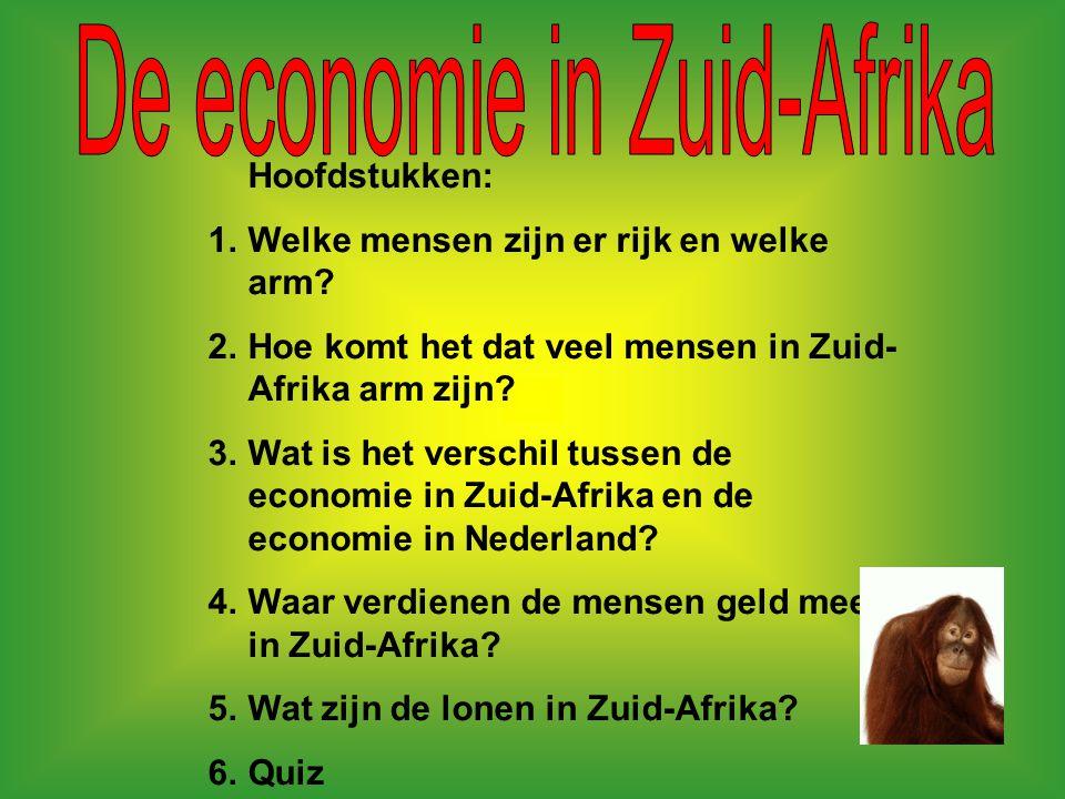 Wij hebben voor het project Zuid- Afrika de categorie Economie gedaan.