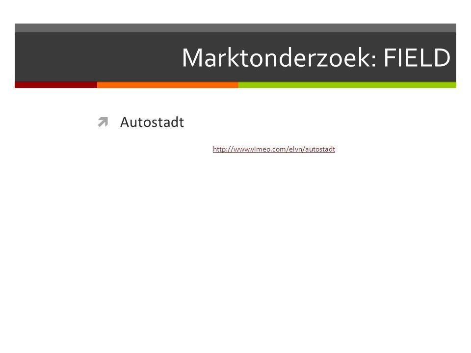 Marktonderzoek: FIELD  Autostadt http://www.vimeo.com/elvn/autostadt