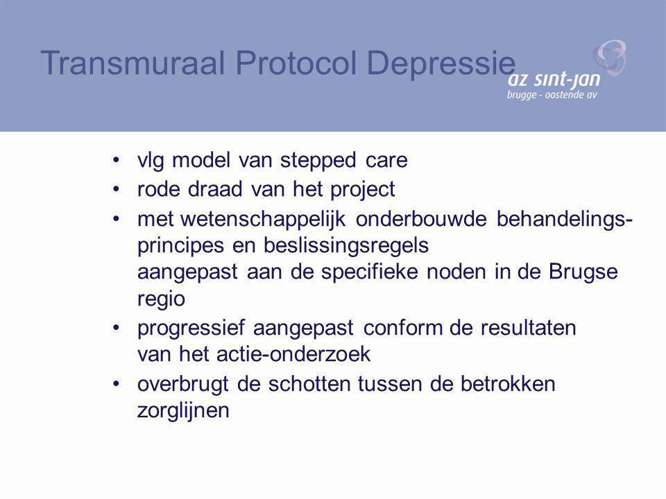 vlg model van stepped care rode draad van het project met wetenschappelijk onderbouwde behandelings- principes en beslissingsregels aangepast aan de s