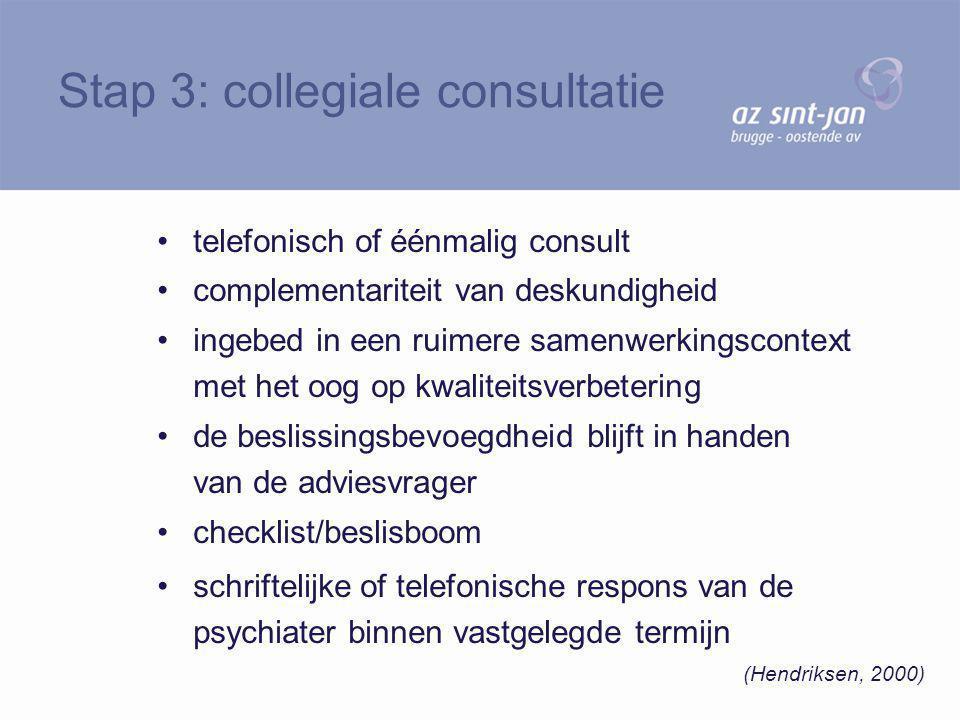 telefonisch of éénmalig consult complementariteit van deskundigheid ingebed in een ruimere samenwerkingscontext met het oog op kwaliteitsverbetering d