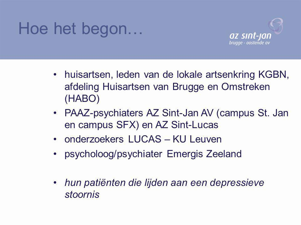 huisartsen, leden van de lokale artsenkring KGBN, afdeling Huisartsen van Brugge en Omstreken (HABO) PAAZ-psychiaters AZ Sint-Jan AV (campus St. Jan e