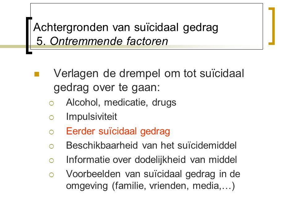 Achtergronden van suïcidaal gedrag 5.