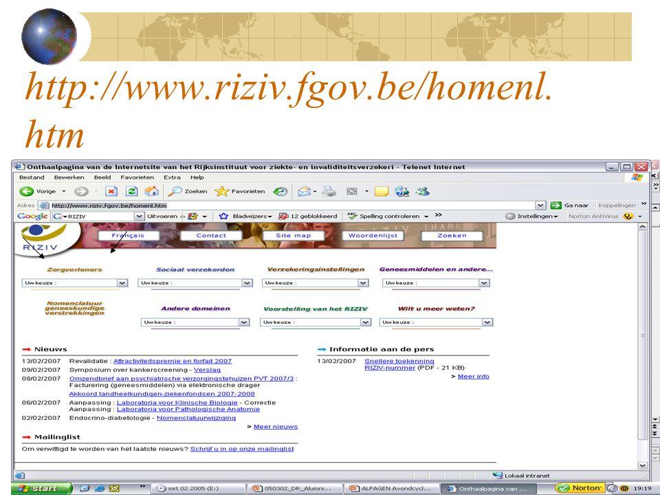 http://www.riziv.fgov.be/homenl. htm