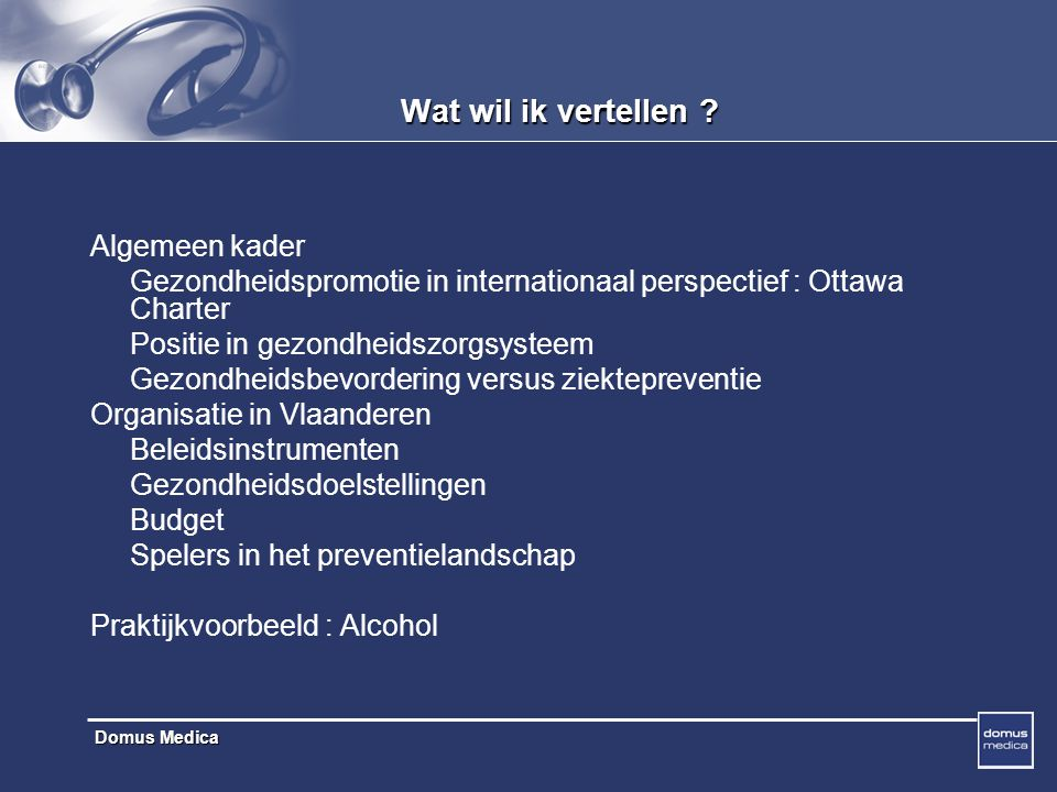 Domus Medica Alcoholproblemen
