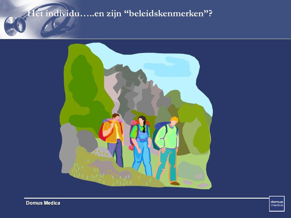 Domus Medica Het individu…..en zijn beleidskenmerken ?