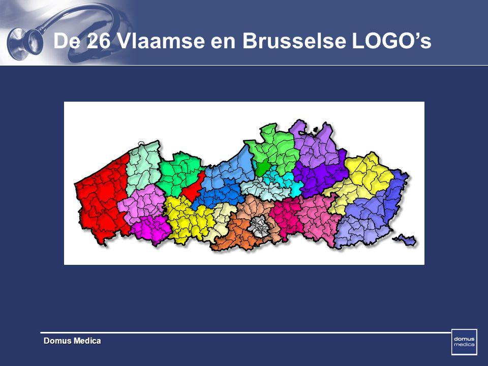 Domus Medica De 26 Vlaamse en Brusselse LOGO's