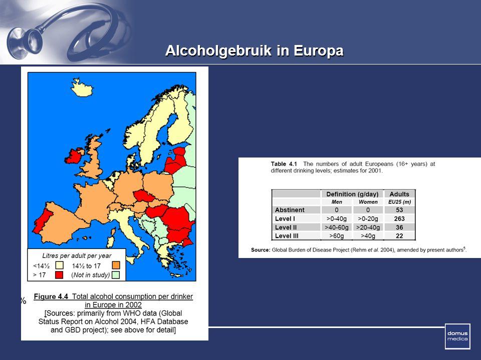 Domus Medica Alcoholgebruik in Europa