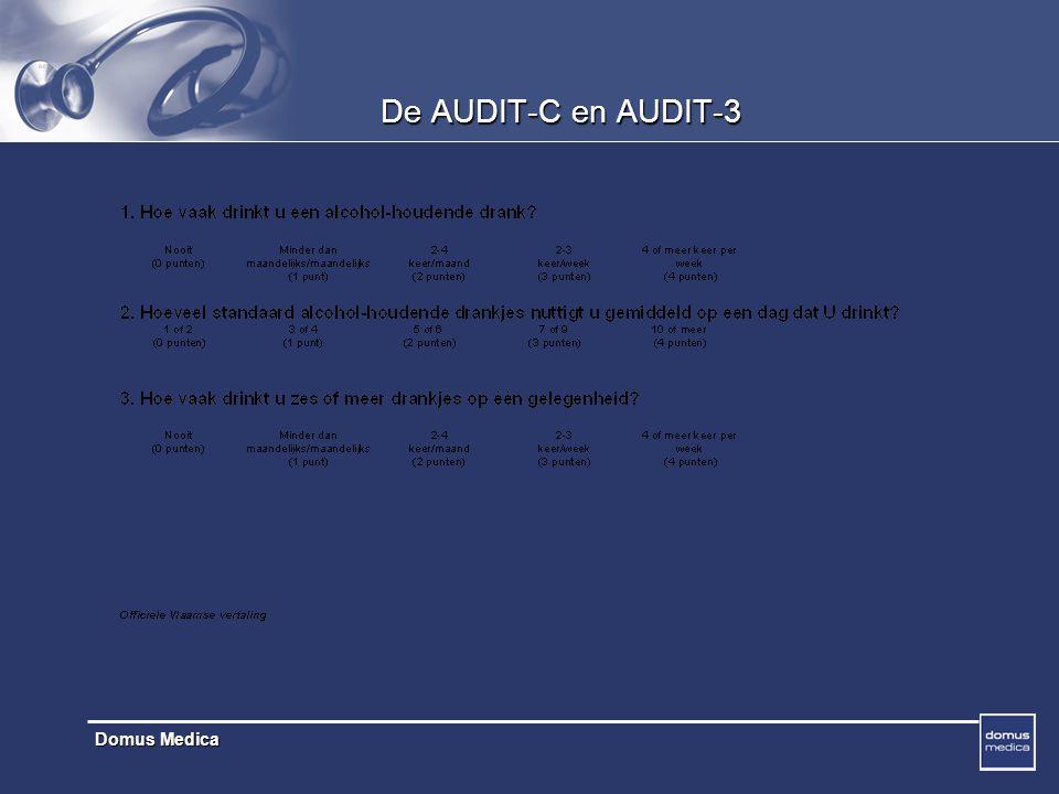 Domus Medica De AUDIT-C en AUDIT-3
