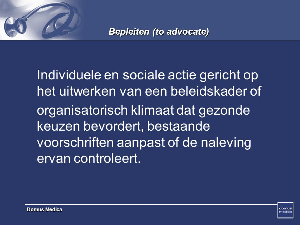 Domus Medica VIG : doelgroepgericht Het VIG werkt op dit ogenblik prioritair voor 4 doelgroepen : 1.