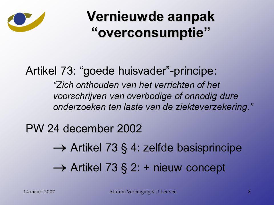Alumni Vereniging KU Leuven3914 maart 2007 RW06 - Geneesmiddelen Hoofdstuk 2 10.