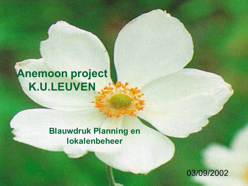 Anemoon project K.U.LEUVEN Blauwdruk Planning en lokalenbeheer 03/09/2002