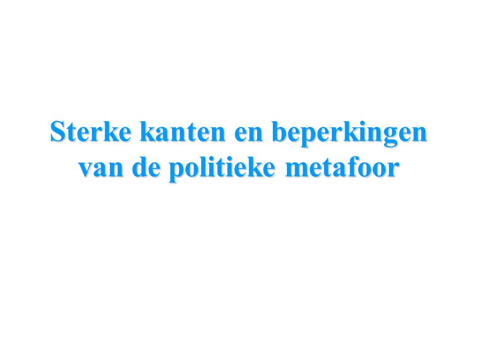 Sterke kanten en beperkingen van de politieke metafoor