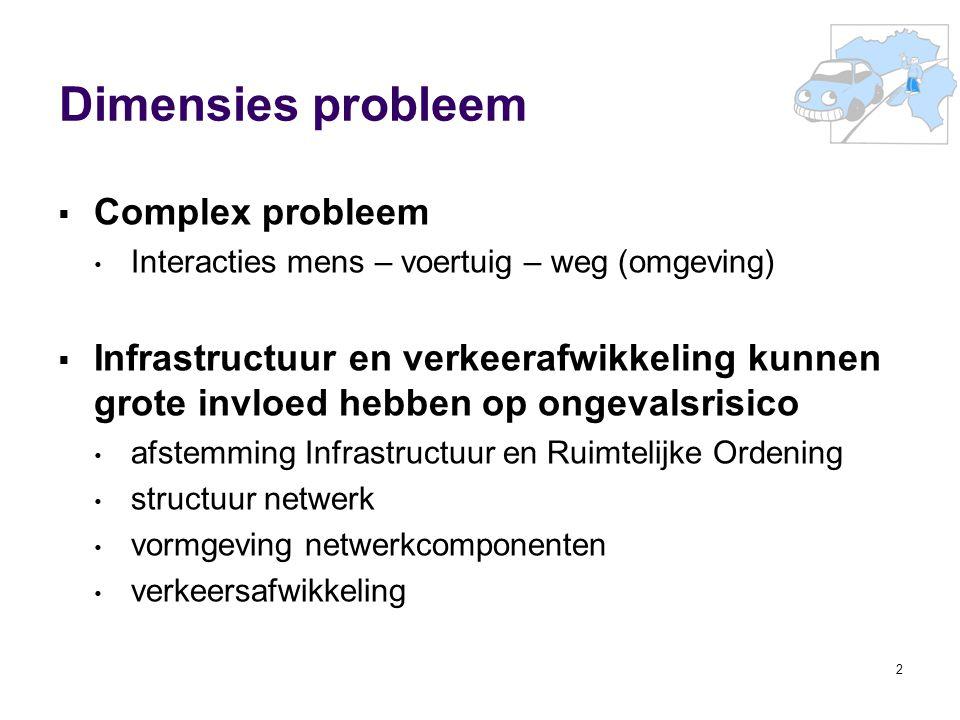 3 Volgens gegevens van de Vlaamse overheid ligt de wegeninfrastructuur en de omgeving slechts voor 10 à 30% aan de basis van de ongevallen.