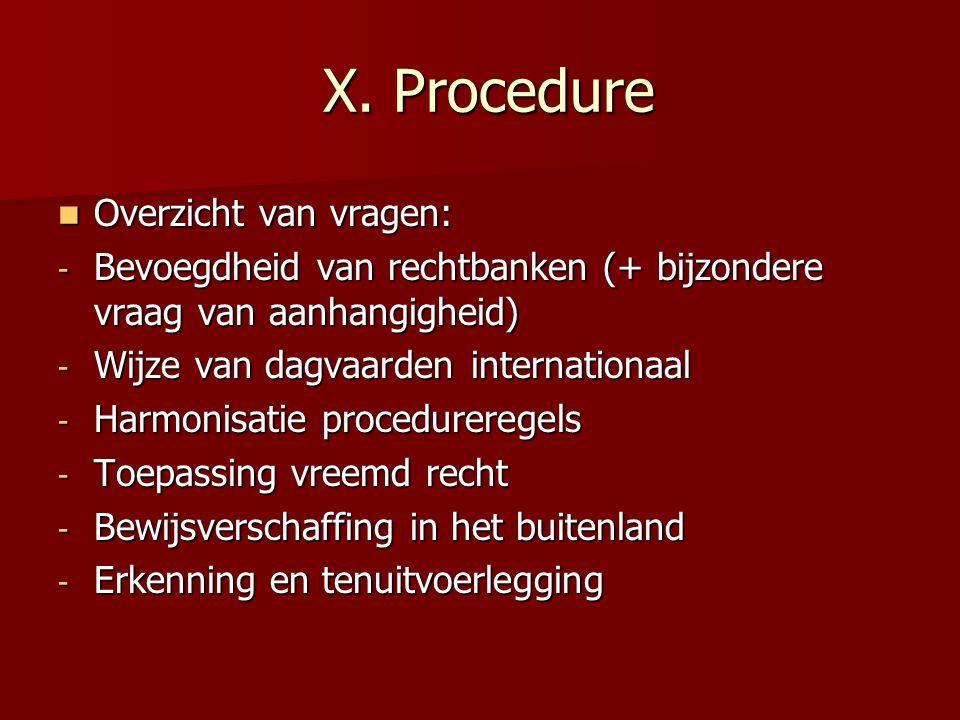 X.Procedure X.