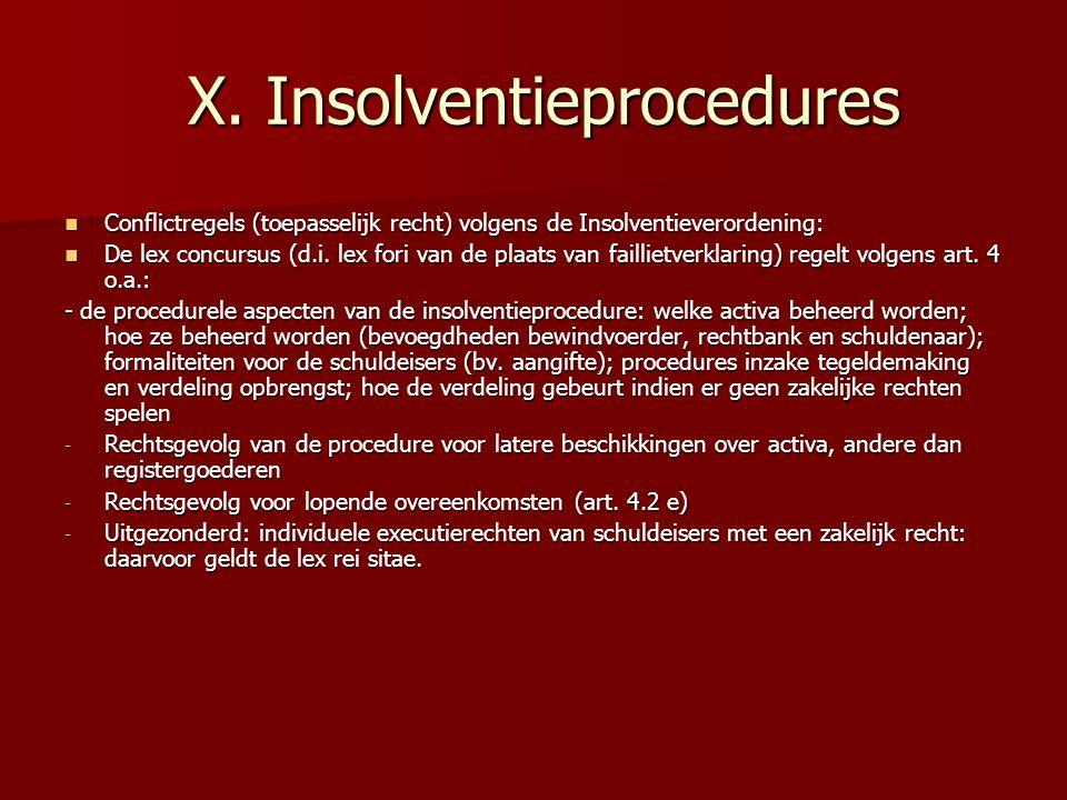 X.Insolventieprocedures X.