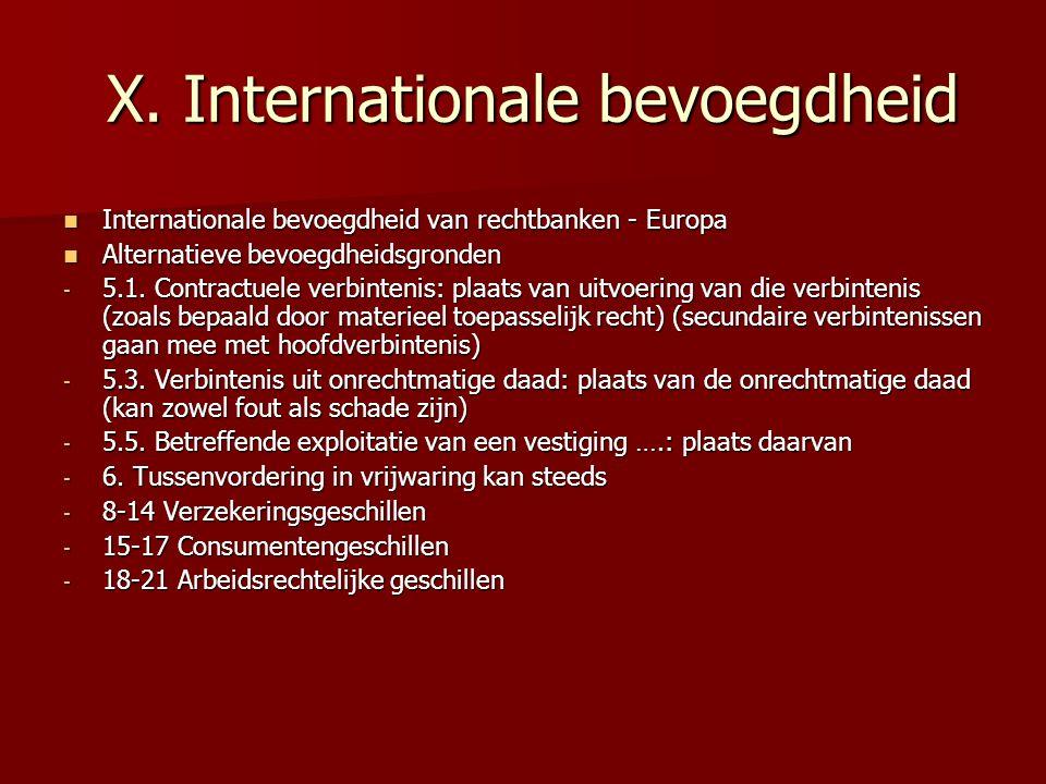 X.Internationale bevoegdheid X.
