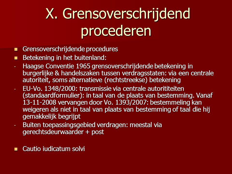 X.Grensoverschrijdend procederen X.