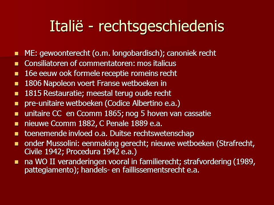 Italië - rechtsgeschiedenis ME: gewoonterecht (o.m. longobardisch); canoniek recht ME: gewoonterecht (o.m. longobardisch); canoniek recht Consiliatore